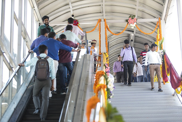 Escalator Skywalk Inaugurated at Embassy Manyata Business Park