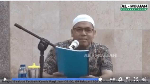 Kata Ustad ini: Islam Koruptor Tetap Masuk Surga, Ahok Baik Tetap Neraka