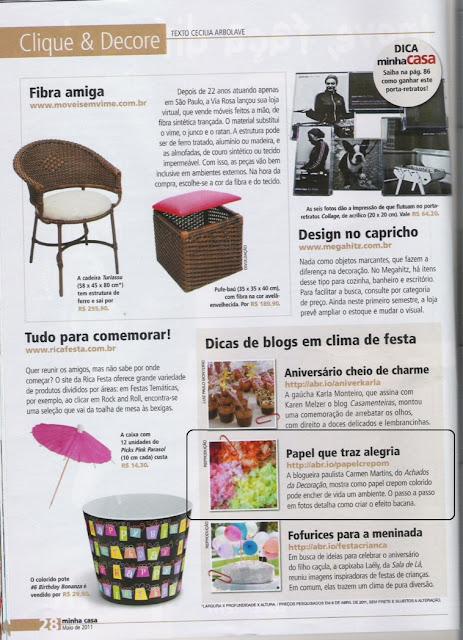 Blog Achados de Decoração na Revista Minha Casa