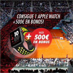 circus consigue Apple Watch + 500€ bono Open de Madrid 6-13 mayo