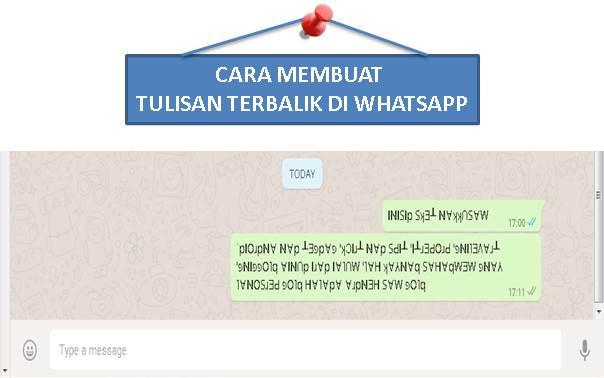 Cara Membuat Tulisan Terbalik di WhatsApp - Blog Mas Hendra