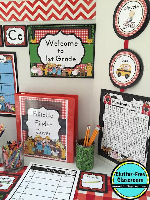 Farm Themed Classroom - Ideas & Printable Classroom ...