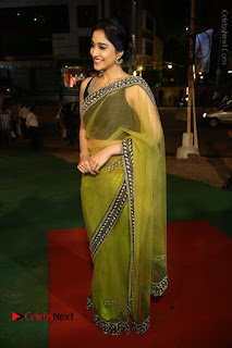 Actress Regina Stills in Green Saree at Vivaha Bhojanambu Restaurant Launch  0153.JPG
