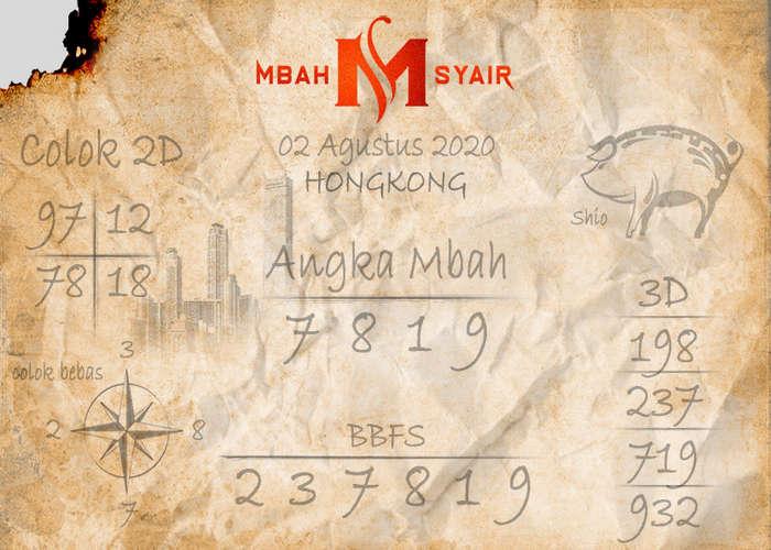 Kode syair Hongkong Minggu 2 Agustus 2020 8