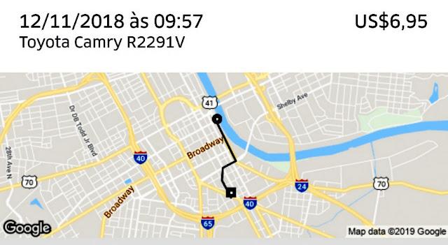 Corrida de Uber em Nashville