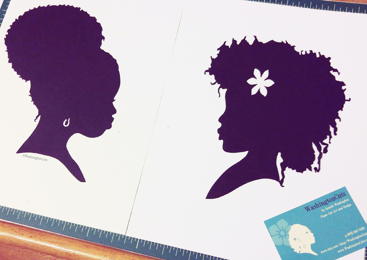 silhouette natural hair afro black women