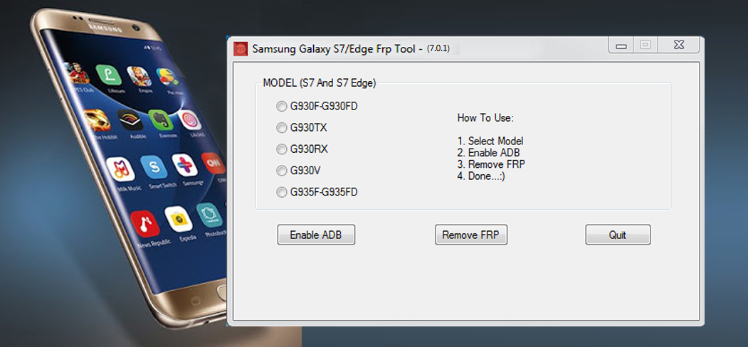 Samsung Galaxy S7 Edge FRP Remove Tool
