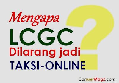 lcgc dilarang jadi taksi online