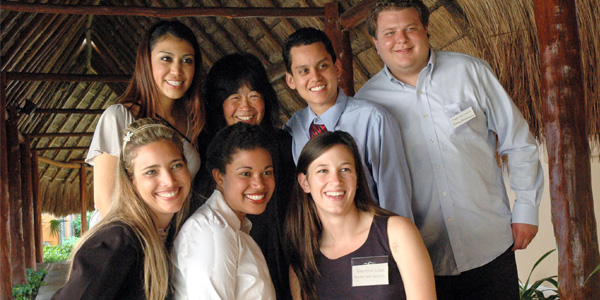 Dr. Audrey Hokoda with students at a conference in Cancun, Mexico.