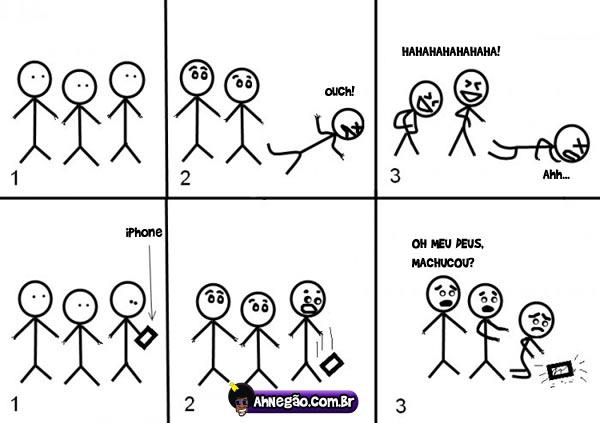 tombo [Humor] Quando cai um iPhone (True Story)