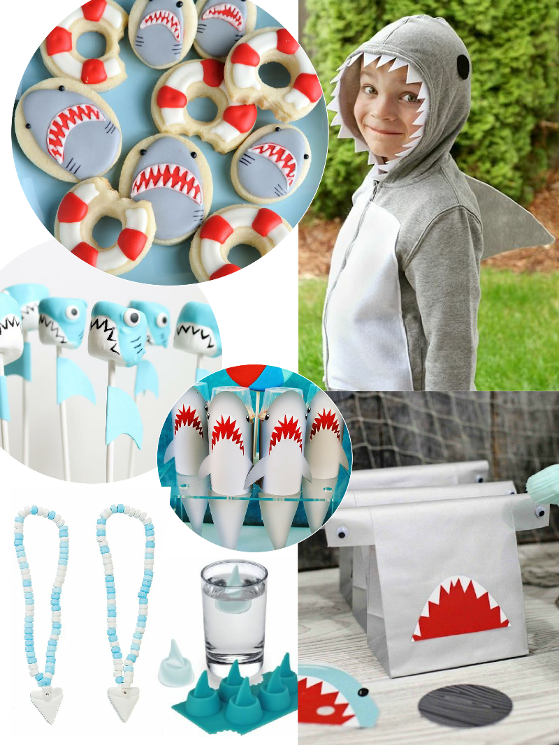 JAWesome Shark Party Ideas for Shark Week - via BirdsParty.com
