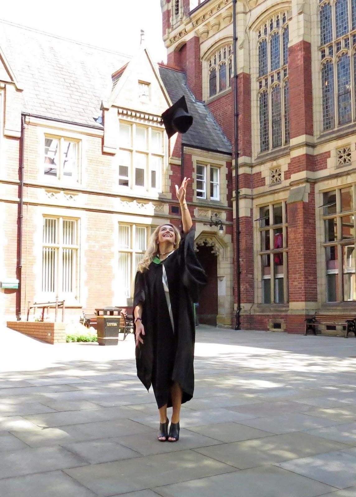 Graduating at the University of Leeds