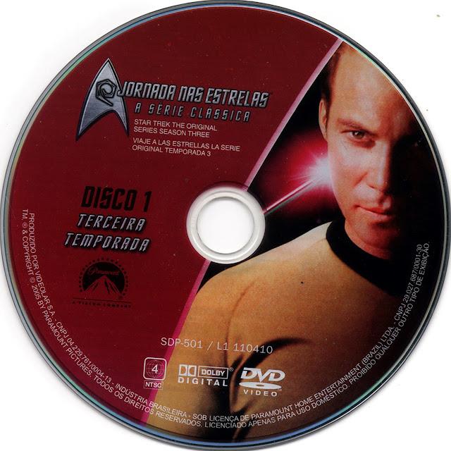 Label DVD Jornada nas Estrelas A Série Clássica Terceira Temporada Disco 1 (Oficial)