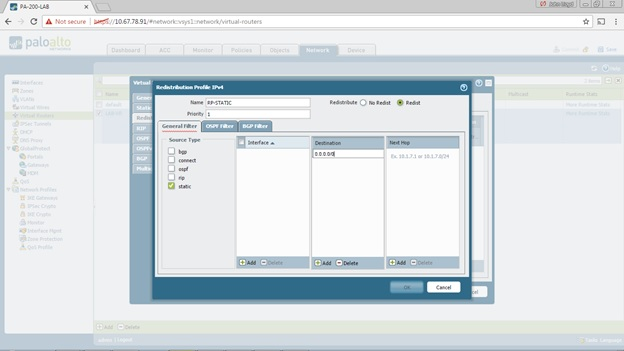 My Palo Alto Networks PCNSE Journal: Configuring Static