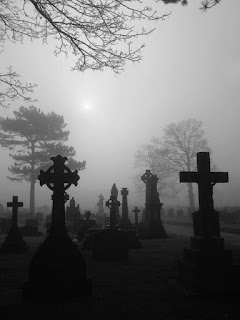 Fog In Cemetery