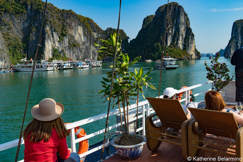 Hanoi Side-Trip to Ha Long Bay in 24 Hours Junk Boat Deck