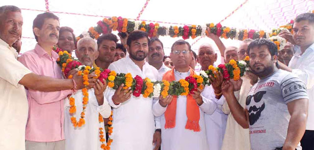 Rajesh Nagar BJP leader honored in village Ghoroda