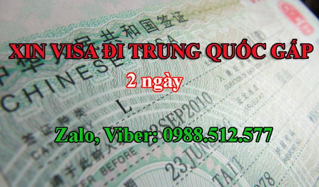 Làm sao để xin visa Trung Quốc gấp