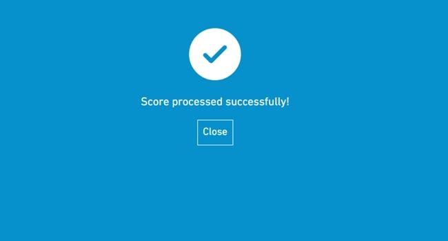 3. Uma vez confirmado o voto, a tela ficará azul