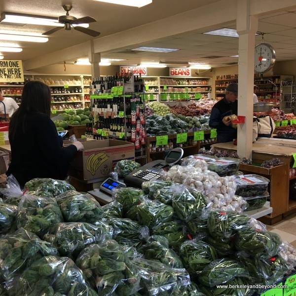 interior of Pedrick Produce in Dixon, California
