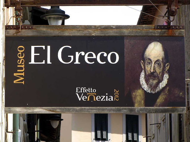 El Greco on a sign, Effetto Venezia, Livorno