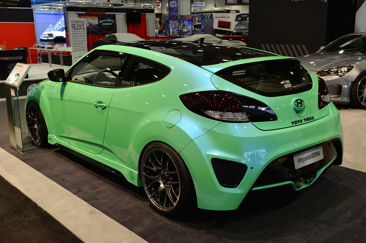 Modified Cars Hyundai Veloster Turbo Strut Their Sema Stuff Intercooler More Photos