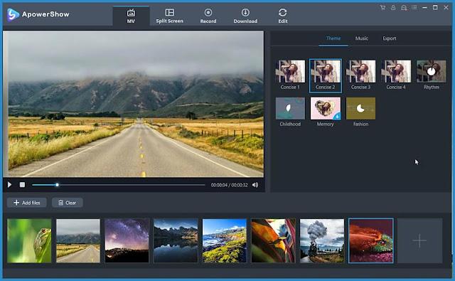ApowerShow  : Δημιουργήστε Slideshows με ανάλυση  Full HD