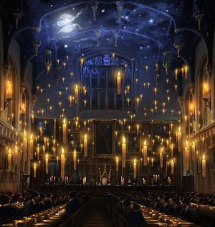 Banchetto serale nella Sala Grande di Hogwarts