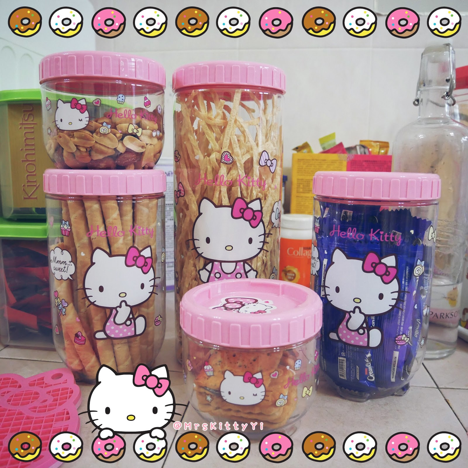 Had Always Wanted Nice Cute Hello Kitty Container And Found It! This Hello  Kitty Interlock Storage Containers Is 1 Set, 2 Small,2 Medium U0026 1 Long.