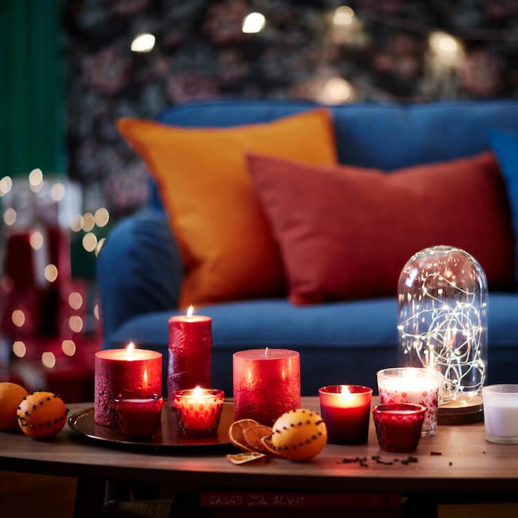 candelabros, velas, Navidad,