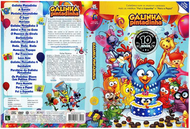 Capa DVD Galinha Pintadinha 10 Anos
