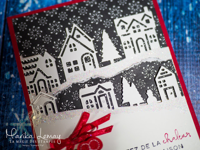 Carte de Noël Stampin'Up! faite avec le jeu d'étampes Ensemble à Noël