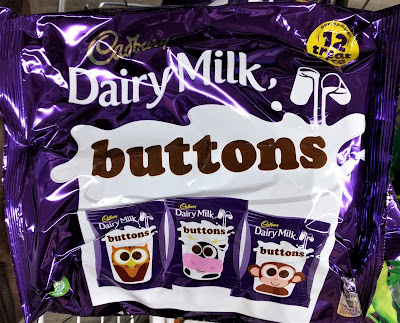 Cadbury dairy milk buttons treat size