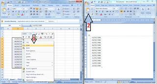 Trik merubah format tanggal pada  Exel tidak menggunakan formula dan macro