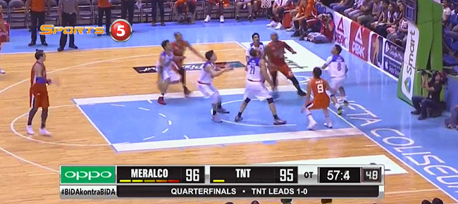 Meralco def. TNT, 103-100 in OT (REPLAY VIDEO) QF Game 2 / June 7