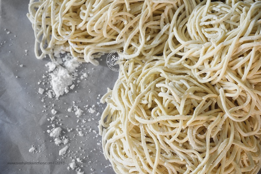 Homemade Fresh Ramen Noodles (Membuat Mie Ramen Segar)