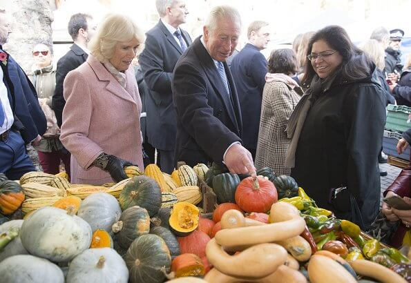 The Prince of Wales and The Duchess of Cornwall visited Swiss Cottage Farmers' Market to celebrate the 20th anniversary