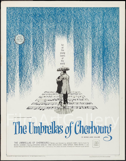The Umbrellas of Cherbourg 1964 musical movie poster