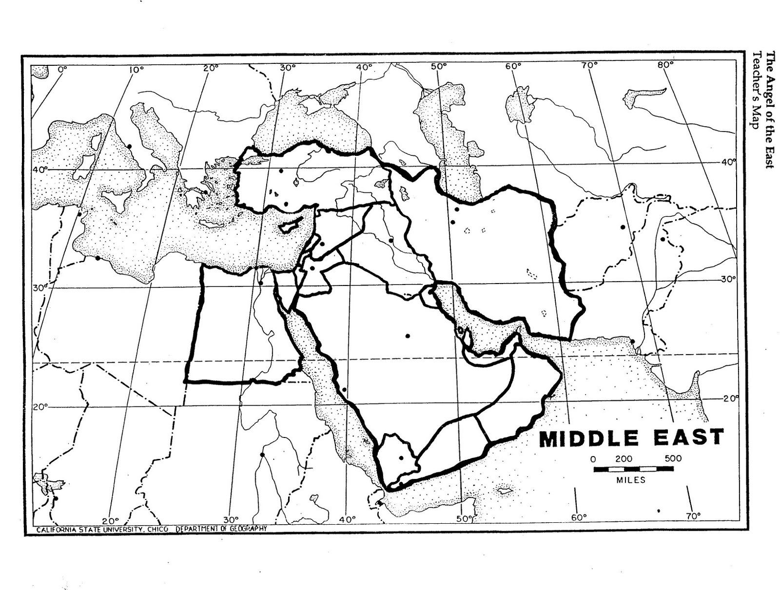 Middle East Map Fertile Crescent Sketch Coloring Page