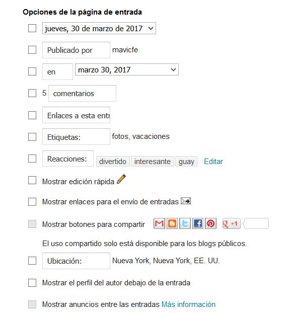 Editar opciones del post-footer en Blogger