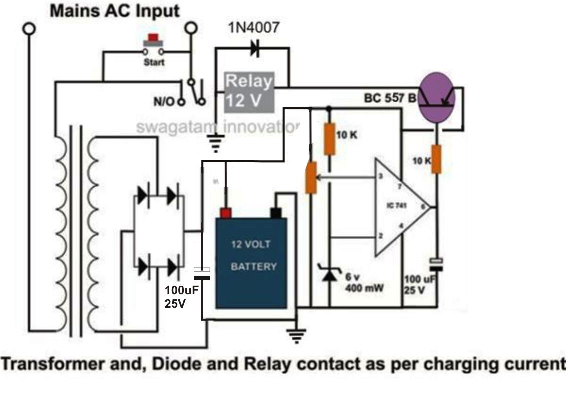 medium resolution of 12 volt battery charger circuit 9 volt battery charger circuit 6 volt battery charger circuit diagram