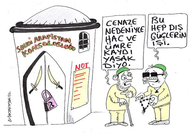 dış güçler karikatür