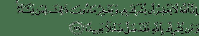 Surat An-Nisa Ayat 116