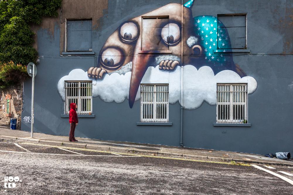 French Street Artist Ador Mural in Waterford, Ireland. Photo ©Hookedblog