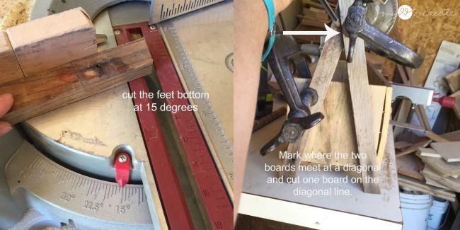cutting a frame legs