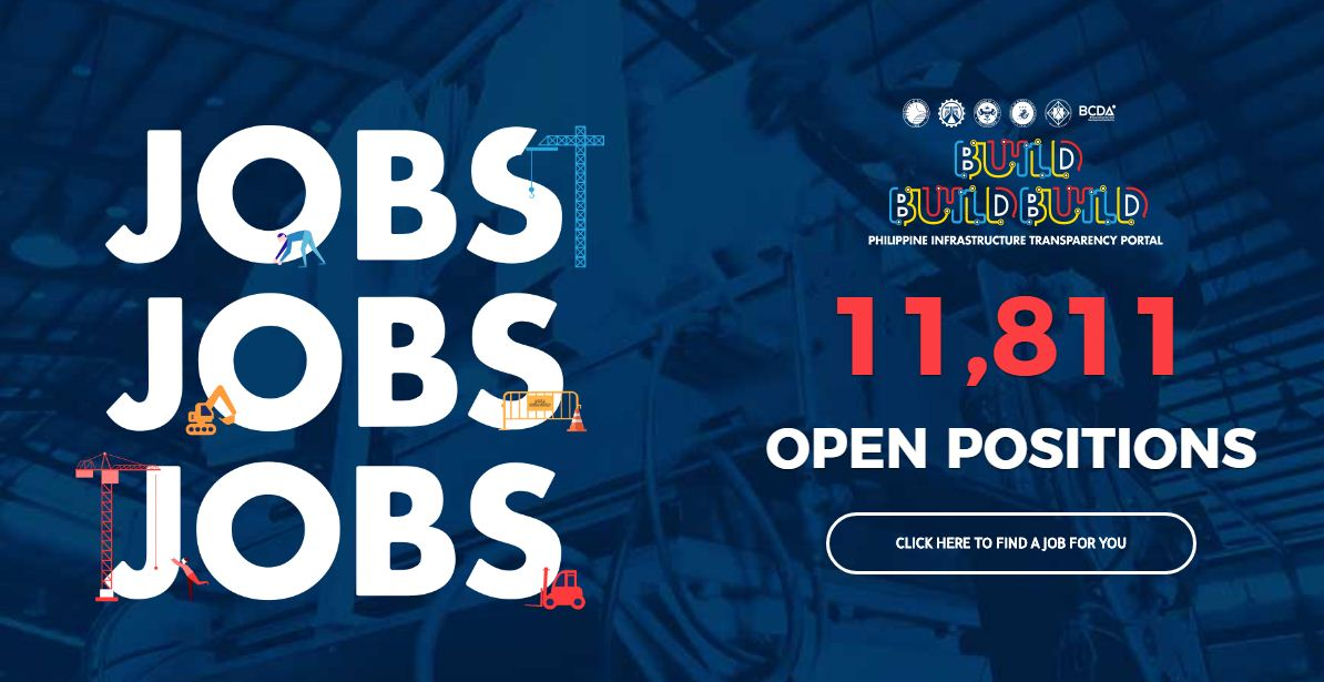 Are you looking for work? Here is a good news for you. The Department of Public Work and Highways (DPWH) has more than 11,000 construction-related jobs for all Filipinos out there who want to work here in the Philippines.