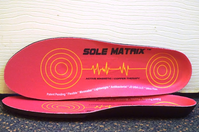 Sole Matrix Insole Alongside Active Copper Magnetic Therapy