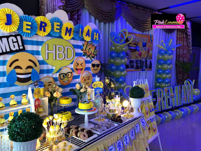 Emoji themed Dessert table
