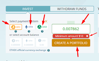 Select Payment Mode And Enter Amount | Best Place To Investment Your Money Online | Ethtrade