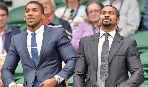 Anthony Joshua and David Haye